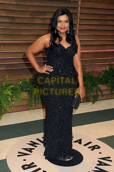 02 March 2014 - West Hollywood, California - Mindy Kaling. 2014 Vanity Fair Oscar Party following the 86th Academy Awards held at Sunset Plaza.  <br /> CAP/ADM/BP<br /> &copy;Byron Purvis/AdMedia/Capital Pictures