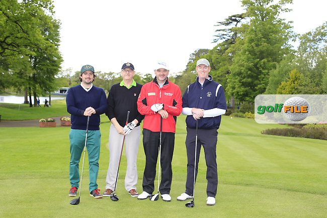 Paul Lawrie's (SCO) team during Wednesday's Pro-Am of the 2016 Dubai Duty Free Irish Open hosted by Rory Foundation held at the K Club, Straffan, Co.Kildare, Ireland. 18th May 2016.<br /> Picture: Eoin Clarke | Golffile<br /> <br /> <br /> All photos usage must carry mandatory copyright credit (&copy; Golffile | Eoin Clarke)