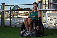 Sporting 2XU gear - Andrew Edmondson / Wheelchair rugby athlete<br /> 2016 APC RIO Uniform Launch with the city of Sydney as the backdrop shot from the Star Casino<br /> Australian Paralympic Committee<br /> Star Casino / Sydney / NSW<br /> Monday 6 June 2016<br /> © Sport the library / Jeff Crow