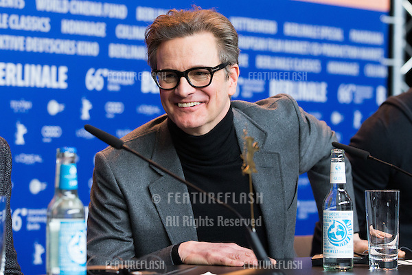 Colin Firth  at the press conference for &quot;Genius&quot; during the 66th Berlinale International Film Festival, Berlin.<br /> February 16, 2016  <br /> Picture: Kristina Afanasyeva / Featureflash