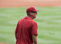 NWA Democrat-Gazette/CHARLIE KAIJO Arkansas Razorbacks head coach Dave Van Horn reacts during game two of the College Baseball Super Regional, Sunday, June 9, 2019 at Baum-Walker Stadium in Fayetteville. Ole Miss forces a game three with a 13-5 win over the Razorbacks