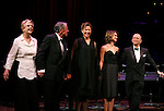 Angela Lansbury, Brian Bedford, Annette Bening, Keri Russell, Joel Grey & Zoe Caldwell.during the Curtain Call for The Actors Fund One Night Only Benefit of ALL ABOUT EVE at the Eugene O'Neill Theatre in New York City..November 10, 2008.© Walter McBride /