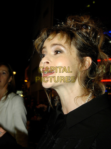 "HELENA BONHAM CARTER.UK premiere of ""Corpse Bride"" at Vue Cinema, London, UK..October 17th, 2005.Ref: IA.headshot portrait hair accessory crown mouth open.www.capitalpictures.com.sales@capitalpictures.com.©Capital Pictures"
