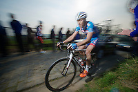 Frederik Veuchelen (BEL/Wanty-GroupeGobert) up the Paterberg climb<br /> <br /> 57th E3 Harelbeke 2014