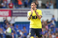 Blackburn Rovers' Danny Graham applauds the crowd at the end of todays match<br /> <br /> <br /> Photographer Rachel Holborn/CameraSport<br /> <br /> The EFL Sky Bet Championship - Ipswich Town v Blackburn Rovers - Saturday 4th August 2018 - Portman Road - Ipswich<br /> <br /> World Copyright &copy; 2018 CameraSport. All rights reserved. 43 Linden Ave. Countesthorpe. Leicester. England. LE8 5PG - Tel: +44 (0) 116 277 4147 - admin@camerasport.com - www.camerasport.com