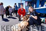 Simon Lonergan and Alice Matusova with Bear (Siberian Huskey), pictured at the Kingdom County Fair, Ballybeggan racecourse, Tralee, on Sunday last.on Sunday last.