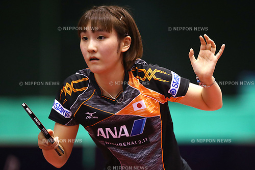Miyu Kato (JPN), JUNE 16, 2017 - Table Tennis : ITTF World Tour, Japan Open 2017 Women's Singles at Tokyo Metropolitan Gymnasium, Tokyo, Japan. (Photo by Sho Tamura/AFLO)