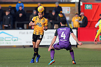 Jake Carroll of Cambridge United and Luke Joyce of Port Vale during Cambridge United vs Port Vale, Sky Bet EFL League 2 Football at the Cambs Glass Stadium on 9th February 2019