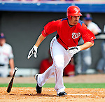 1 March 2011: Washington Nationals' first baseman Adam LaRoche in action during a Spring Training game against the New York Mets at Space Coast Stadium in Viera, Florida. The Nationals defeated the Mets 5-3 in Grapefruit League action. Mandatory Credit: Ed Wolfstein Photo