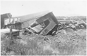D&amp;RG train wreck near La Veta with engine totally inverted.<br /> D&amp;RG  La Veta Pass, CO  8/12/1901