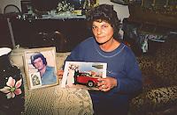 Michela Buscemi, witness against mafia in one of the most important trial against mafia in Palermo on 1987, because of that she lost her job and her mother stopped relating to her, Palermo.<br /> <br /> Michela Buscemi si &egrave; costituita parte civile nel maxi processo contro la mafia a Palermo nell'87, scelta che le ha causato l'alienazione dalla famiglia di origine e la perdita dell'attivit&agrave; commerciale, Palermo.