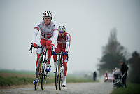 Paris-Roubaix 2012 recon..Alexander Kristoff at Carrefour de l'Arbre