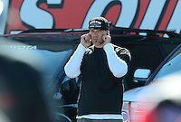 Oct. 27, 2012; Las Vegas, NV, USA: Television personality Jesse James in attendance during NHRA qualifying for the Big O Tires Nationals at The Strip in Las Vegas. Mandatory Credit: Mark J. Rebilas-