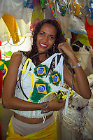 Salvador, Brazil, October 2004.  The famous brazilian bikini. The streets of Salvadors historical center are lined with colorful buildings from colonial times.  Photo by Frits Meyst/Adventure4ever.com