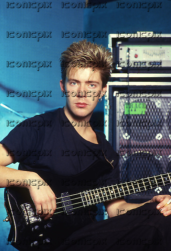 ITBITES - bassist Dick Nolan - Photosession in London UK - August 1986.  Photo credit: George Bodnar Archive/IconicPix