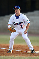 March 9, 2010:  First Baseman Preston Tucker (25) of the Florida Gators during a game at McKethan Stadium in Gainesville, FL.  Photo By Mike Janes/Four Seam Images
