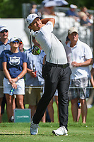 Xander Schauffele (USA) watches his tee shot on 3 during round 2 of the 2019 Charles Schwab Challenge, Colonial Country Club, Ft. Worth, Texas,  USA. 5/24/2019.<br /> Picture: Golffile   Ken Murray<br /> <br /> All photo usage must carry mandatory copyright credit (© Golffile   Ken Murray)