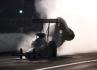 Nov 10, 2018; Pomona, CA, USA; NHRA top fuel driver Tony Schumacher during the Auto Club Finals at Auto Club Raceway. Mandatory Credit: Mark J. Rebilas-USA TODAY Sports