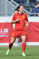 20170408 - EUPEN ,  BELGIUM : Spanish Marta Corredera  pictured during the female soccer game between the Belgian Red Flames and Spain , a friendly game before the European Championship in The Netherlands 2017  , Saturday 8 th April 2017 at Stadion Kehrweg  in Eupen , Belgium. PHOTO SPORTPIX.BE | DIRK VUYLSTEKE