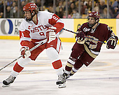Ryan Weston, Pat Gannon - The Boston University Terriers defeated the Boston College Eagles 2-1 in overtime in the March 18, 2006 Hockey East Final at the TD Banknorth Garden in Boston, MA.