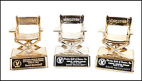 BNPS.co.uk (01202 558833)<br /> Pic: Juliens/BNPS<br /> <br /> ***Please use full byline***<br /> <br /> A group of three director chair statuettes from the Director&rsquo;s Guild of America annual dinner dated 1992, 1995 and 2002.<br /> <br /> The futuristic talking sportscar driven by TV legend David Hasselhoff in cult show Knight Rider is among a &pound;100,000 archive of the star's possessions up for sale.<br /> <br /> Hasselhoff has also put his iconic red lifeguard jacket from hit programme Baywatch on the market alongside a bizarre, oversized statue of himself.<br /> <br /> The actor, known as The Hoff, shot to fame in 1982 in Knight Rider as crime fighter Michael Knight.<br /> <br /> Knight's partner was an artificially intelligent supercar called Knight Industries Two Thousand - or KITT for short.