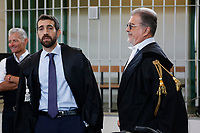 Giovanni Musaro', the prosecutor, PM in the Cucchi's case and lawyer Fabio Anselmo, Ilaria Cucchi's partner<br /> Rome October 29th 2019. Process 'Cucchi bis'. Stefano Cucchi, a 30 years old man, was arrested on October 15 2009 for drug possession, and after being convicted in Regina Coeli jail for few days, he was transferred to Sandro Pertini hospital, where he died on October 22 2009 due to be strongly beaten. On his body were found many signs of abuse and violence. The defendants are 5 carabineers. <br /> Foto  Samantha Zucchi Insidefoto