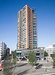 Modern high rise apartment block central Rotterdam, Netherlands