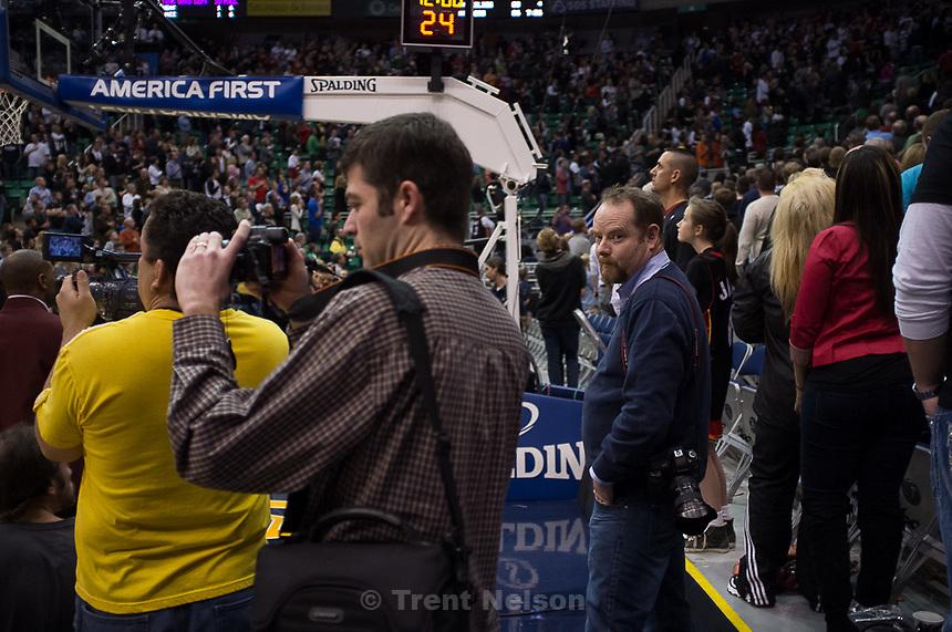 Trent Nelson  |  The Salt Lake Tribune.Utah Jazz vs. Miami Heat, NBA basketball at EnergySolutions Arena Friday, March 2, 2012 in Salt Lake City, Utah. matt hatfield