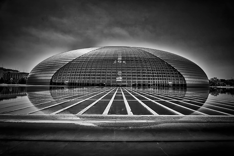 """Beijing National Performance Art Center, also known as """"The Egg""""."""