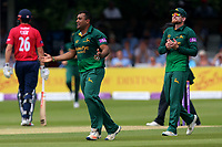 Samit Patel of Notts celebrates taking the wicket of Tom Westley during Essex Eagles vs Notts Outlaws, Royal London One-Day Cup Semi-Final Cricket at The Cloudfm County Ground on 16th June 2017
