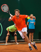 Austria, Kitzbühel, Juli 17, 2015, Tennis, Davis Cup, Second match between Robin Haase (NED and Andreas Haider-Maurer (AUT), pictured: Robin Haase<br /> Photo: Tennisimages/Henk Koster