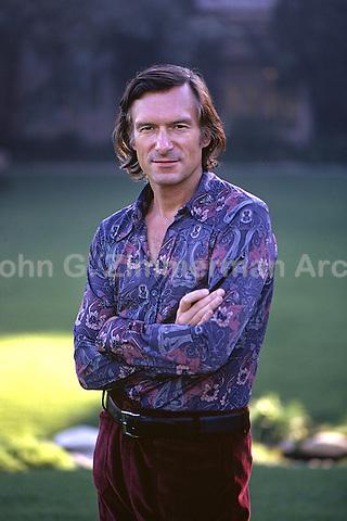 Hugh Hefner, Playboy Mansion, Los Angeles, 1973. Photo by John G. Zimmerman.