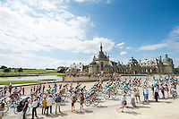 Picture by Alex Broadway/ASO/SWpix.com - 24/07/16 - Cycling - Tour de France 2016 - Stage Twenty-One - Chantilly to Paris Champs-&Eacute;lys&eacute;es - The peloton passes Ch&acirc;teau de Chantilly.<br />