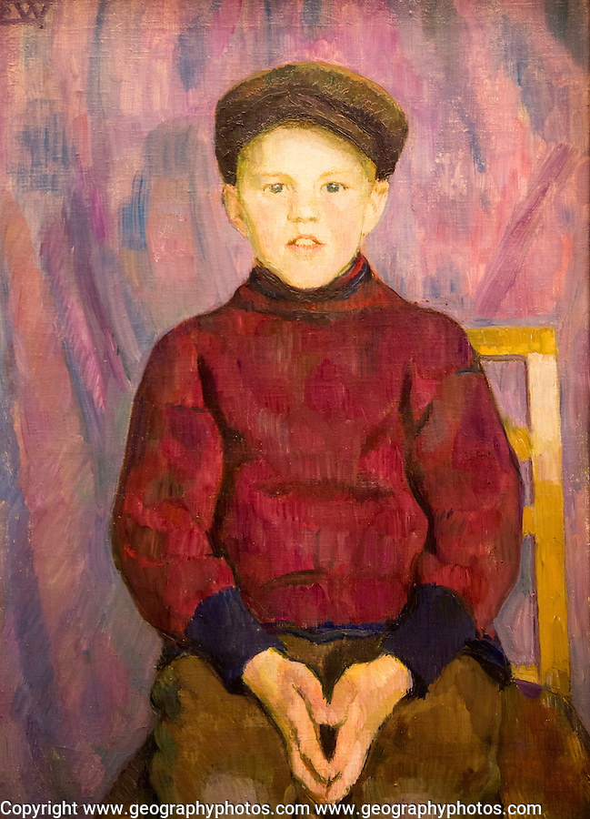 'A Boy' undated oil painting on canvas by Erik Werenskiold 1855-1938, Kode 3 art gallery Bergen, Norway
