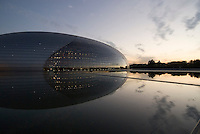 China, Peking (Beijing), Nationaltheater (National Grand Theatre) erbaut von dem franzosischen Architekten Paul Andreu