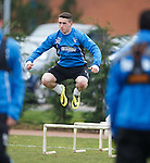 Fraser Aird doing the bouncy