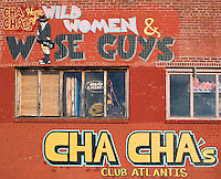 Cha Cha's Wild Women and Wise Guys wall mural for a bar at Coney Island, New York.