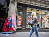 A Ricky's Halloween Superstore pop-up in New York on Wednesday, October 11, 2014. According to the National Retail Federation the average person will spend $77.52 for the holiday. Total Halloween spending is expected to reach $7.4 billion. Landlords who used to resist short-term leases are embracing the concept of pop-ups to get income from empty retail property. (© Richard B. Levine)
