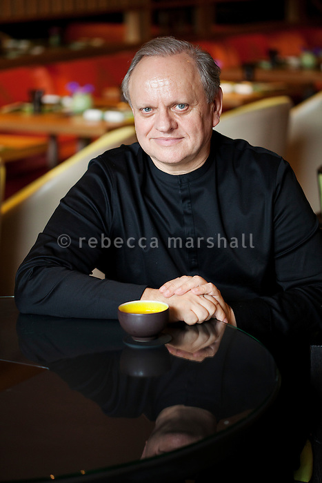 Joël Robuchon, chef and restaurateur, poses for the photographer at Yoshi restaurant at the Metropole Hotel, Monaco, 23 March 2012
