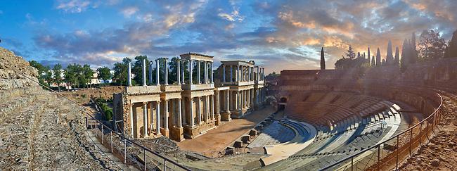 Roman theatre of the Roman colony of Emerita Augusta (Mérida) dedicated by the consul Marcus Vipsanius Agrippa and built in 15BC, renovated late 1st Century AD, Merida, Estremadura, Spain