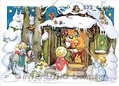 Interlitho, CHRISTMAS SANTA, SNOWMAN, nostalgic, paintings(KL573-4/rgb,#X#) Weihnachten, nostalgisch, Navidad, nostálgico, illustrations, pinturas