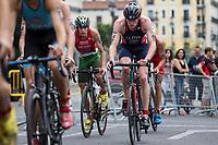Liam Lloyd of Great Britain during the 2017 Madrid ITU Triathlon World Cup in Madrid, May 28, 2017. Spain.. (ALTERPHOTOS/Rodrigo Jimenez) /NortePhoto.com