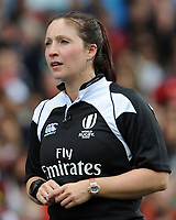Referee Claire Hodnett in action during todays match<br /> <br /> Photographer Ian Cook/CameraSport<br /> <br /> Women's Six Nations Round 4 - Wales Women v Ireland Women - Saturday 11th March 2017 - Cardiff Arms Park - Cardiff<br /> <br /> World Copyright &copy; 2017 CameraSport. All rights reserved. 43 Linden Ave. Countesthorpe. Leicester. England. LE8 5PG - Tel: +44 (0) 116 277 4147 - admin@camerasport.com - www.camerasport.com