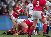 Wales Women's Keira Bevan in action during todays match<br /> <br /> Photographer Bob Bradford/CameraSport<br /> <br /> 2020 Women's Six Nations Championship - England v Wales - Saturday 7th March 2020 - The Stoop - London<br /> <br /> World Copyright © 2020 CameraSport. All rights reserved. 43 Linden Ave. Countesthorpe. Leicester. England. LE8 5PG - Tel: +44 (0) 116 277 4147 - admin@camerasport.com - www.camerasport.com