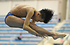 Cameron Yuen of Garden City springs from the board during the Nassau County boys diving championship at Nassau Aquatic Center in East Meadow on Tuesday, Feb. 7, 2018.