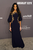 NEW YORK, NY - FEBRUARY 6: Winnie Harlow arriving at the 21st annual amfAR Gala New York benefit for AIDS research during New York Fashion Week at Cipriani Wall Street in New York City on February 6, 2019. <br /> CAP/MPI/JP<br /> &copy;JP/MPI/Capital Pictures