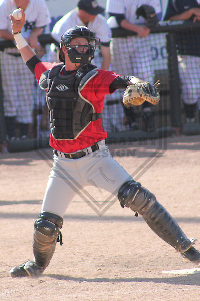 APPLETON - MAY 2011: Charlie James (26) of the Chapman Panthers during a NCAA Division III Baseball Championship game on May 31, 2011 at Fox Cities Stadium in Appleton, Wisconsin. (Photo by Brad Krause) ....