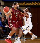 BROOKINGS, SD - FEBRUARY 6:  Tevin King #2 from South Dakota State applies pressure to Jordan Pickett #4 from IUPUI during their game Saturday evening at Frost Arena in Brookings. Photo by Dave Eggen/Inertia)