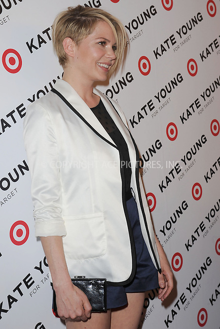 WWW.ACEPIXS.COM . . . . . .April 9, 2013...New York City....Michelle Williams attends the Kate Young For Target Launch at The Old School NYC on April 9, 2013 in New York City ....Please byline: KRISTIN CALLAHAN - ACEPIXS.COM.. . . . . . ..Ace Pictures, Inc: ..tel: (212) 243 8787 or (646) 769 0430..e-mail: info@acepixs.com..web: http://www.acepixs.com .
