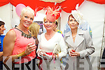 Maggie Large, Nora Finucane and Pauline Lynch at Listowel Races Ladies Day on Sunday.